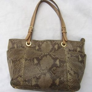 Michael Kors Snakeskin Double Handle Bag Purse